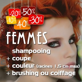 shampooing + coupe + brushing ou coiffage