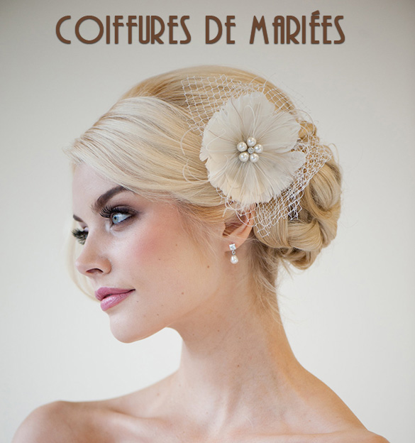 Wedding Hairstyle At Home: Coiffures De Mariées
